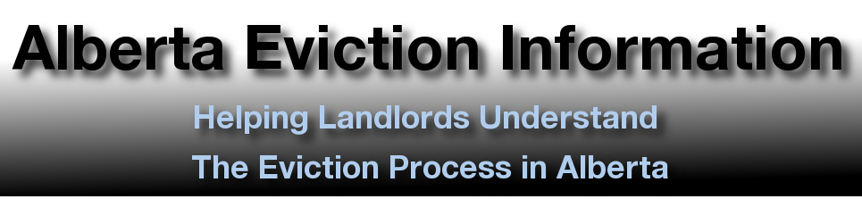 Alberta Eviction Process Information Site